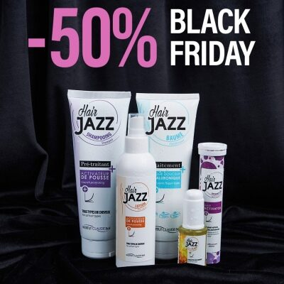 Zestaw na Black Friday - szampon, lotion, serum, hialuronowa odżywka i kompleks witaminowo-mineralny do włosów Hair Jazz